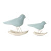 This item: Blue and Brown Bird Rocker Figurine, Set of 4