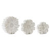 This item: Cream and Brown Flower Accent, Set of 3