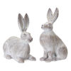 This item: Grey and White Rabbit Figurine, Set of 2