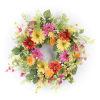 This item: Multicolor 18-Inch Gerbera Daisy Wreath