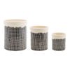 This item: Black and White Terra Cotta Crock, Set of 3