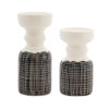 This item: Black and White Terra Cotta Candle Holder, Set of 4