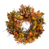 This item: Orange and Multicolor Oversized Fall Wreath with Gourds and Berries