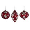 This item: Red and White Snowflake Ornament, Set of Six