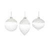 This item: White and Clear Glass Ornament, Set of Six