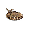 This item: Gold and Brown Bird with Sunflower, Set of Two