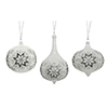 This item: White and Silver Snowflake Ornament, Set of Three