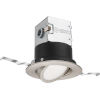 This item: OneUp Brushed Nickel Round LED Recessed Lighting Kit