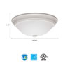 This item: FMDECL 14 20830 WH M4 Essentials 14 in. White LED Decor Round Flush Mount 3000K