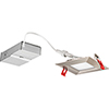 This item: 10.4W LED Ultra Thin 4 Inch Square Baffle Dimmable Recessed Ceiling Light 2700K, Warm White in Nickel