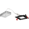 This item: 10.7W LED Ultra Thin 4 Inch Smooth Square Dimmable Recessed Ceiling Light 2700K, Warm White in Black