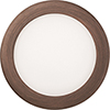 This item: 12.9W LED Ultra Thin 6 Inch Round Dimmable Recessed Ceiling Light 4000K, Bright White in Bronze