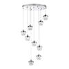 This item: Arika Chrome nine-Light LED Pendant