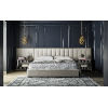This item: Nina Magon Sunday Cafe Upholstery Queen Bed With Wall Panel