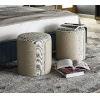 This item: Nina Magon Royalton Eggshell Upholstery Stool