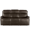 This item: Mayfield Dark Bronze Hudson Iron Leather Motion Sofa
