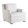 This item: Miranda Kerr Malibu White Lacquer Slipcover Chair