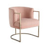 This item: Miranda Kerr Cali Blush and Soft Gold Accent Chair