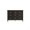 This item: Espresso Three-Drawer Wood Dresser