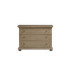 This item: Brown Three-Drawer Wood Dresser