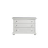 This item: White Three-Drawer Wood Dresser