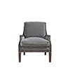 This item: Curated Gray Crosspoint Accent Chair