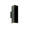 This item: Black LED Outdoor Square Cylinder Wall Sconce