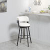 This item: William White and Dark Rubbed Bronze Upholstered Swivel Barstool