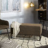 This item: Logan Distressed Brown and Black Upholstered Bench