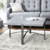 This item: Saint Grey and Gunmetal Square Coffee Table