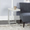 This item: Charlotte Silver and Faux Marble C-Table
