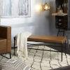 This item: Dakari Cognac and Black Upholstered Bench