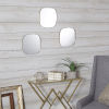 This item: Gold Rounded Mirrors, Set of Three
