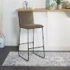 This item: Distressed Brown and Black Square Back Barstool