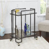 This item: Gunmetal and Gold Two-Tier Rectangular Serving Cart