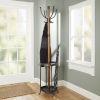 This item: Gunmetal Metal and Wood Coat Rack with Umbrella Stand