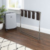 This item: Dark Brown and Chrome Luggage Rack