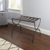 This item: Dark Brown and Gunmetal Folding Luggage Rack