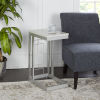 This item: Silver and Faux Marble Square C Table