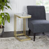 This item: Gold and Faux Marble Square C Table
