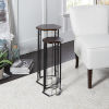 This item: Espresso Oak and Flat Black Hexagon Nesting Table, Set of Two