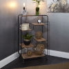 This item: Gunmetal and Light Graphite Wood Multi-tiered Table Cart