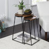 This item: Black Metal and Dark Wood Nesting Tables, Set of Two