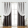 This item: Dark Grey 52 x 63 In. Sheer Lace and Blackout Window Treatments, Set of Four
