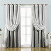 This item: Grey 52 x 84 In. Sheer Lace and Blackout Window Treatments, Set of Four