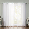 This item: White Sheer 52 x 84 In. Window Treatments, Set of Four