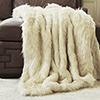 This item: Long Hair Faux Ivory Fur 58 x 60 In. Throw Blanket