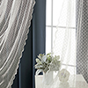 This item: Navy Wide Dot Lace 80 x 84 In. Blackout Window Treatments, Set of Two