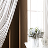This item: Chocolate 80 x 84 In. Blackout Window Treatments, Set of Two