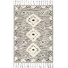 This item: Apache Black and Cream Rectangle Hand Woven 2 Ft. x 3 Ft. Rug